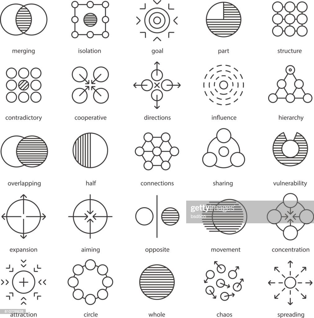 Abstract symbols icons