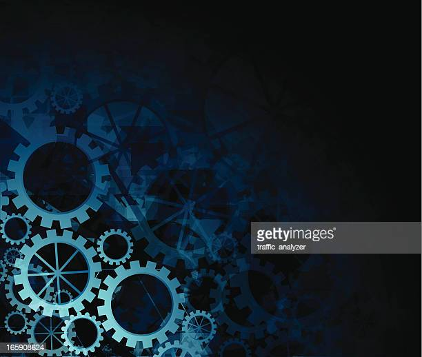 abstract teal gears background - gearshift stock illustrations, clip art, cartoons, & icons
