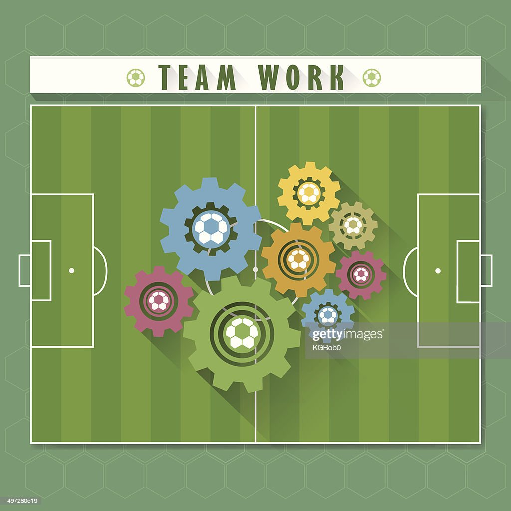 Abstract team work soccer