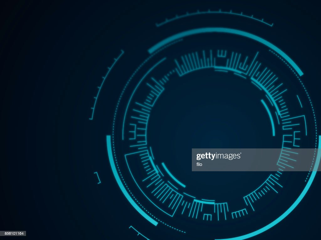 Abstract Tech Circle Background : stock illustration