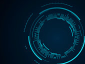 Abstract Tech Circle Background
