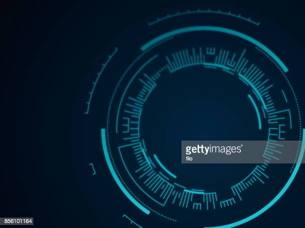 abstract tech circle background - technology stock illustrations