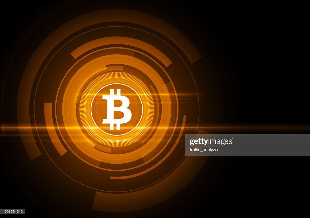 技術の抽象的な背景 - ビットコイン : ストックイラストレーション