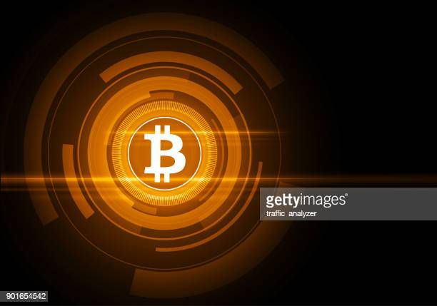 abstract technical background - bitcoin - cryptocurrency stock illustrations