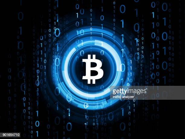 abstract technical background - bitcoin - bitcoin stock illustrations