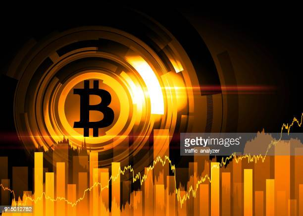 abstract technical background - bitcoin - finance and economy stock illustrations