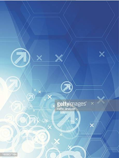 abstract technical background - two dimensional shape stock illustrations