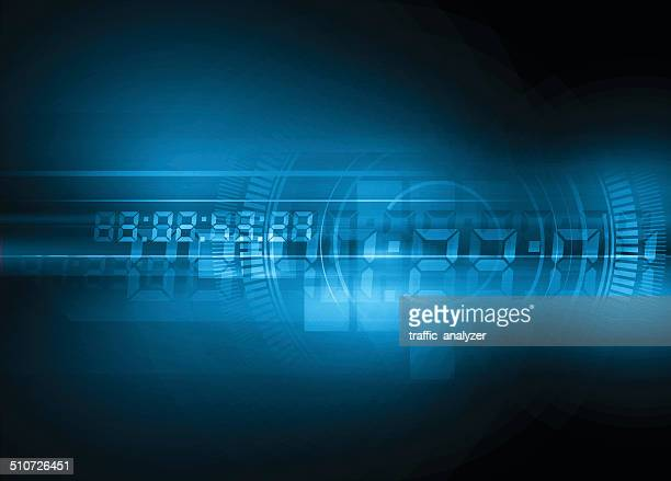 abstract technical background - time stock illustrations