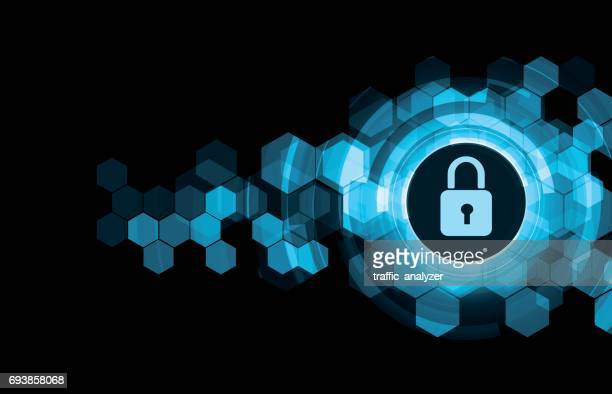 abstract technical background - firewall stock illustrations