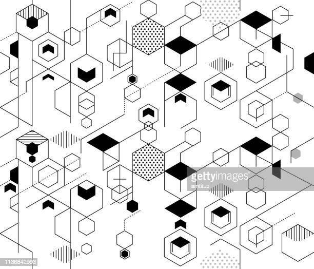abstract technical seamless - loopable elements stock illustrations