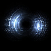 Abstract techno eye background