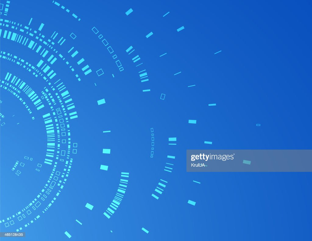 Abstract technological background of blue color for your busines