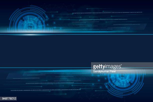 abstract technology background for internet of things - science and technology stock illustrations