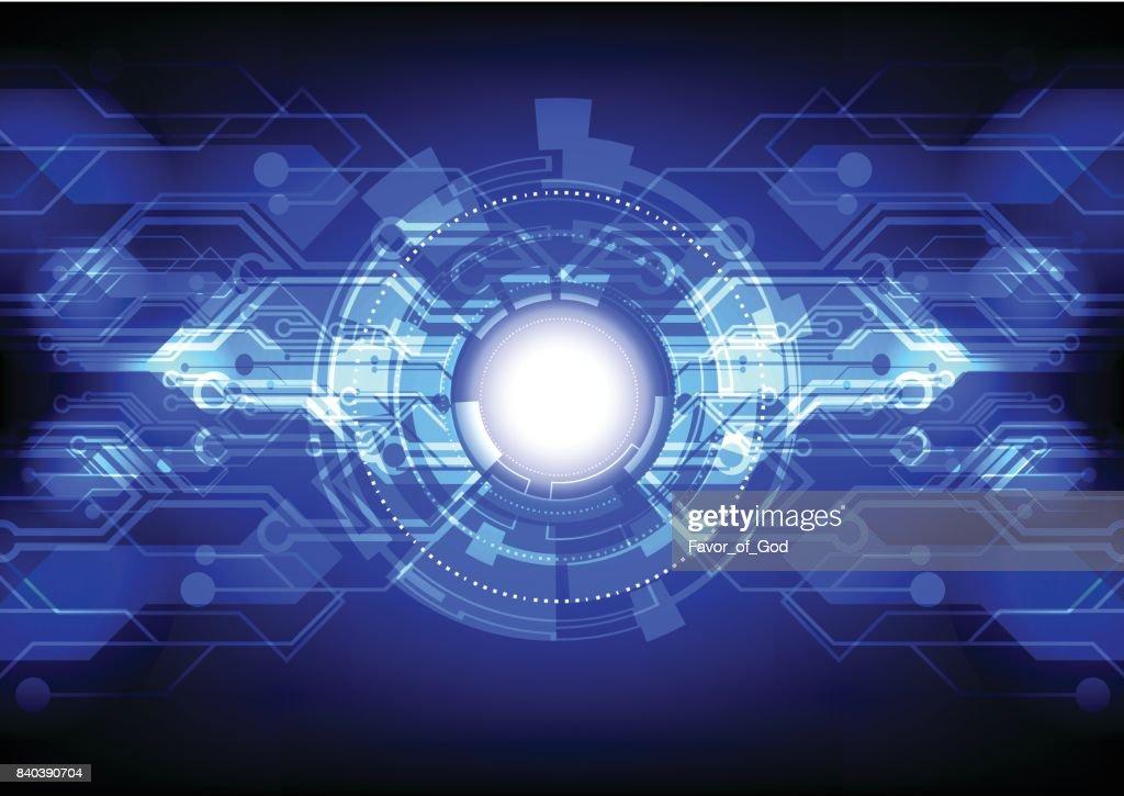 Abstract technology background illuminate on black