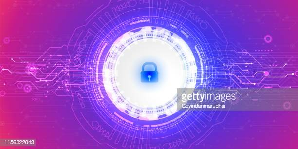 abstract technology background. security concept - access control stock illustrations, clip art, cartoons, & icons