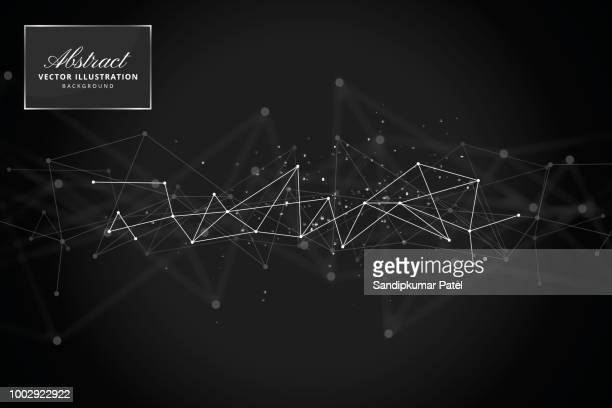 abstract technology background - black background stock illustrations