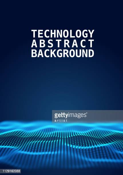 abstract technology background - magnification stock illustrations