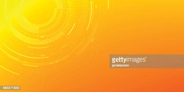 abstract technology background - big data circle stock illustrations