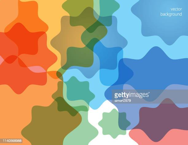abstract technology background with curve overlapped geometric shape - fractal stock illustrations