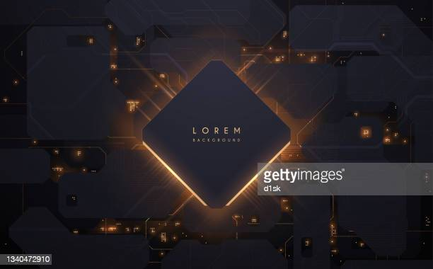 abstract technology background with lights effect