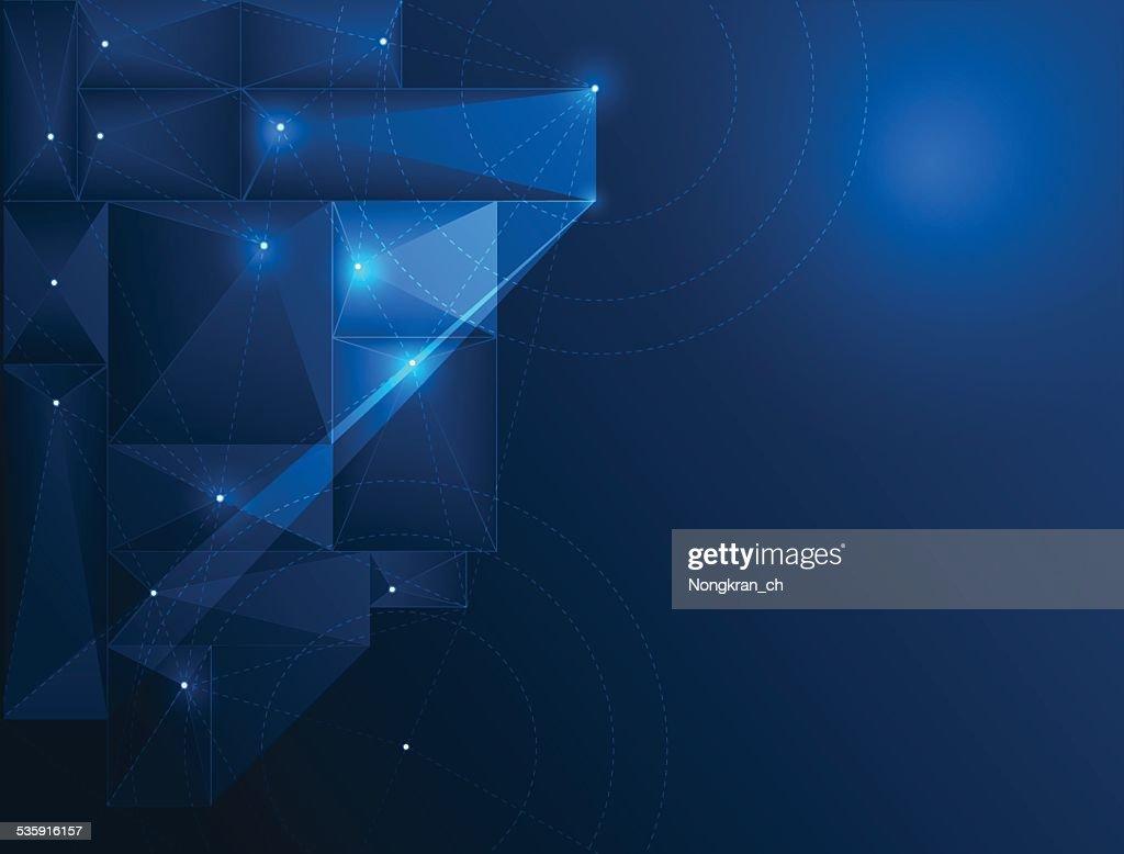 La tecnología de fondo abstracto-ciberespacio : Arte vectorial