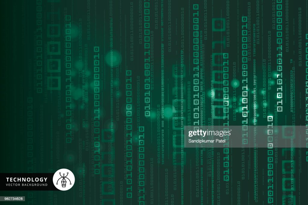 Abstract Technology Binary code Background : Stock Illustration