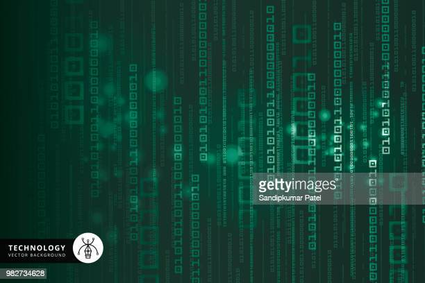 abstract technology binary code background - collection stock illustrations