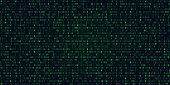 Abstract Technology Binary code Background.Digital binary data and Secure Data Concept