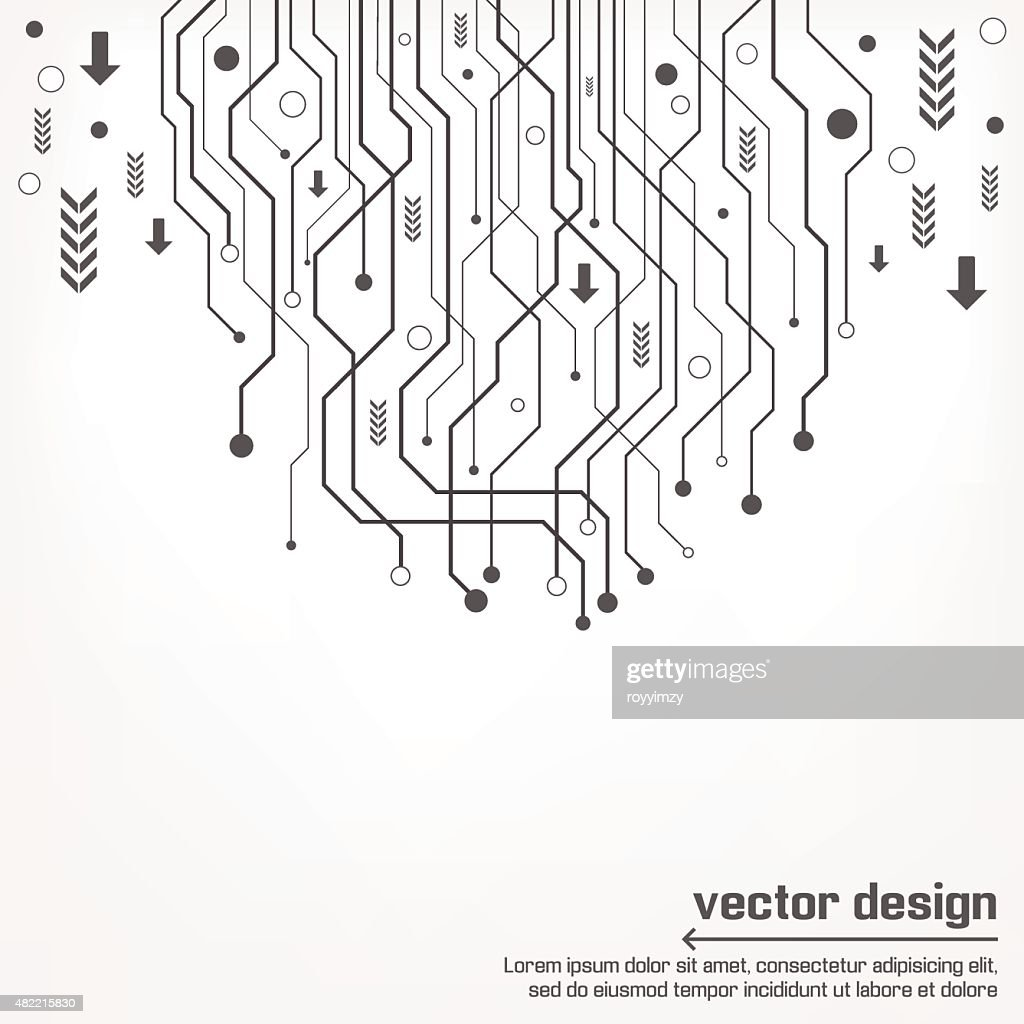 Abstract Technology Circuit Board Vector Art Getty Images Diagram