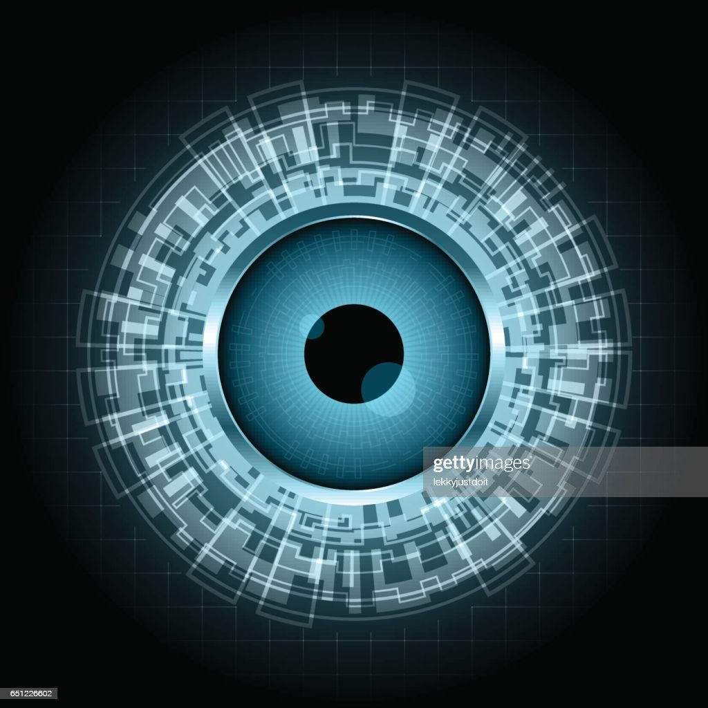 Abstract technology digital circle eye vector illustration background