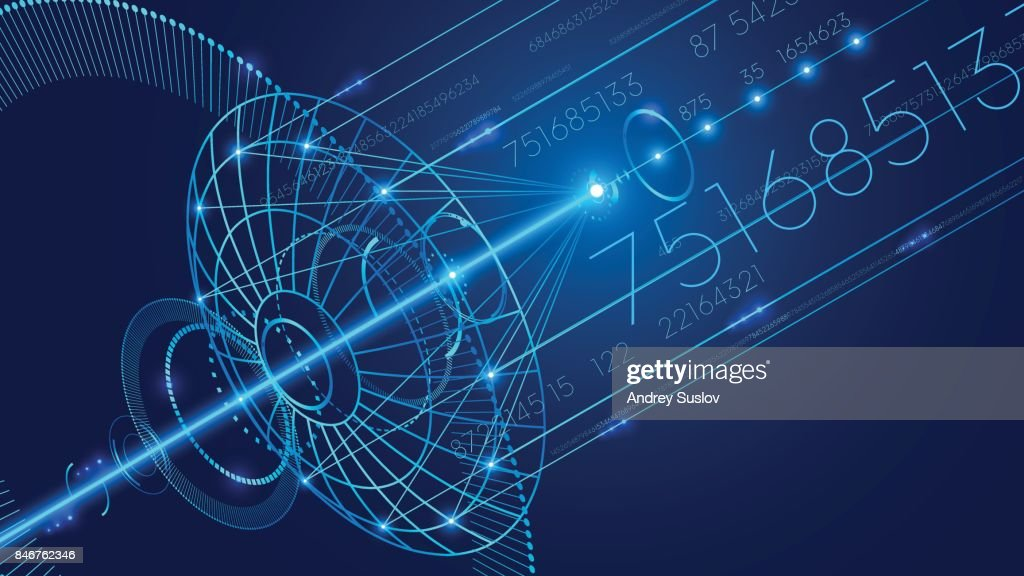 Abstract technology digital communication background.