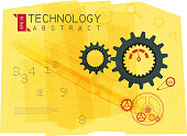 Abstract Technology Drawing