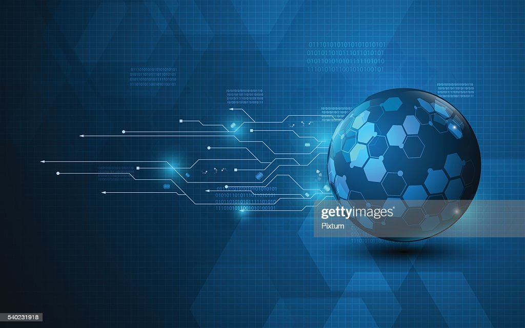 abstract technology innovation concept hexagon design background