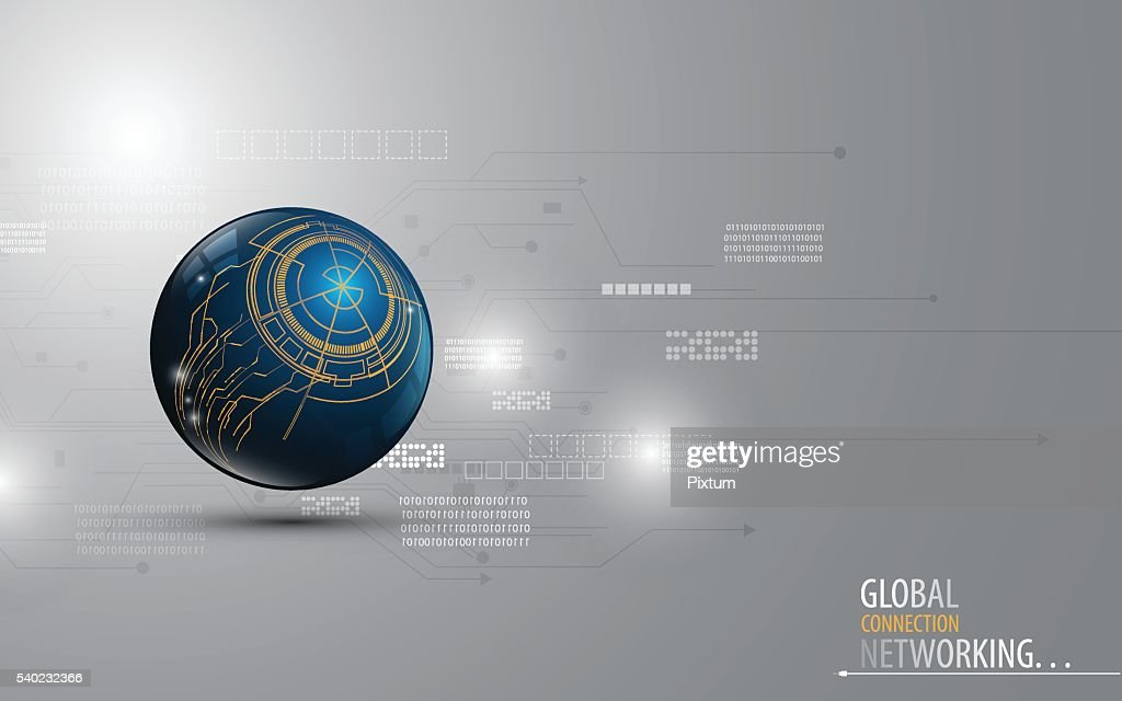 abstract technology network computer global innovation concept design background