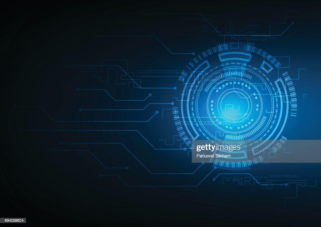 Abstrakte Technologie Sci Fi Schaltung Designinnovationkonzept ...