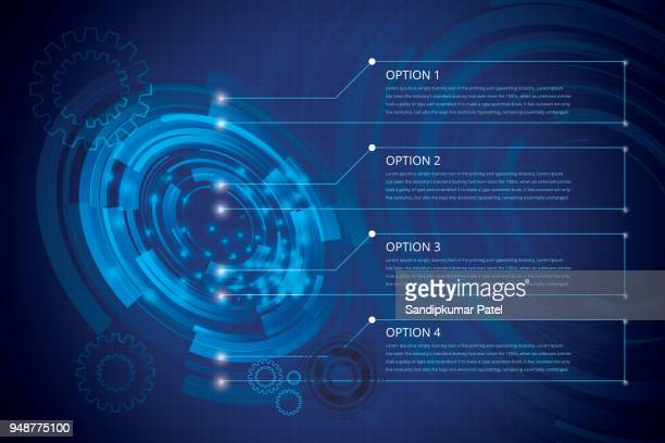 abstract technology telecoms innovation concept background flat futuristic design - technology stock illustrations