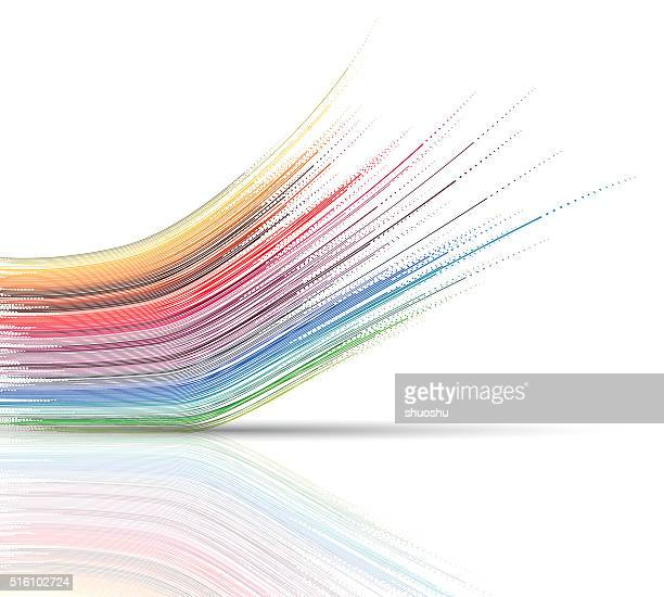 abstract technology wave stripe pattern background - flowing stock illustrations, clip art, cartoons, & icons