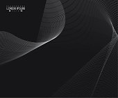 Abstract template background with smooth line wave design