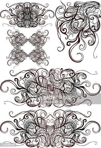 abstract tenticles design