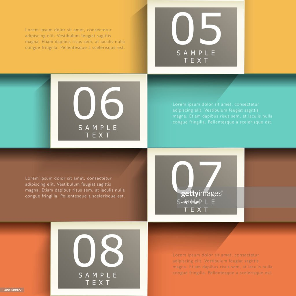Abstract text samples on four different backgrounds