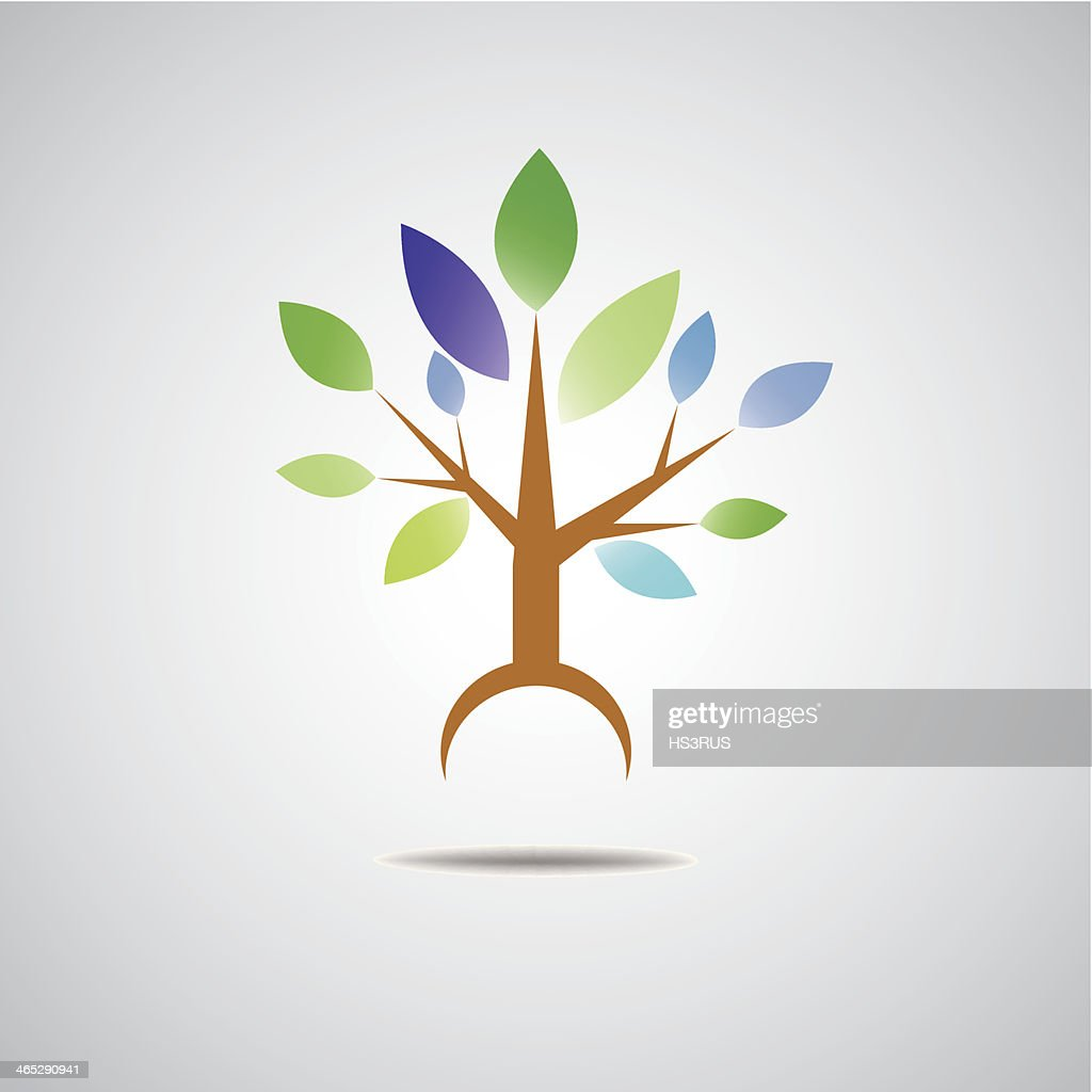 abstract tree eco icon