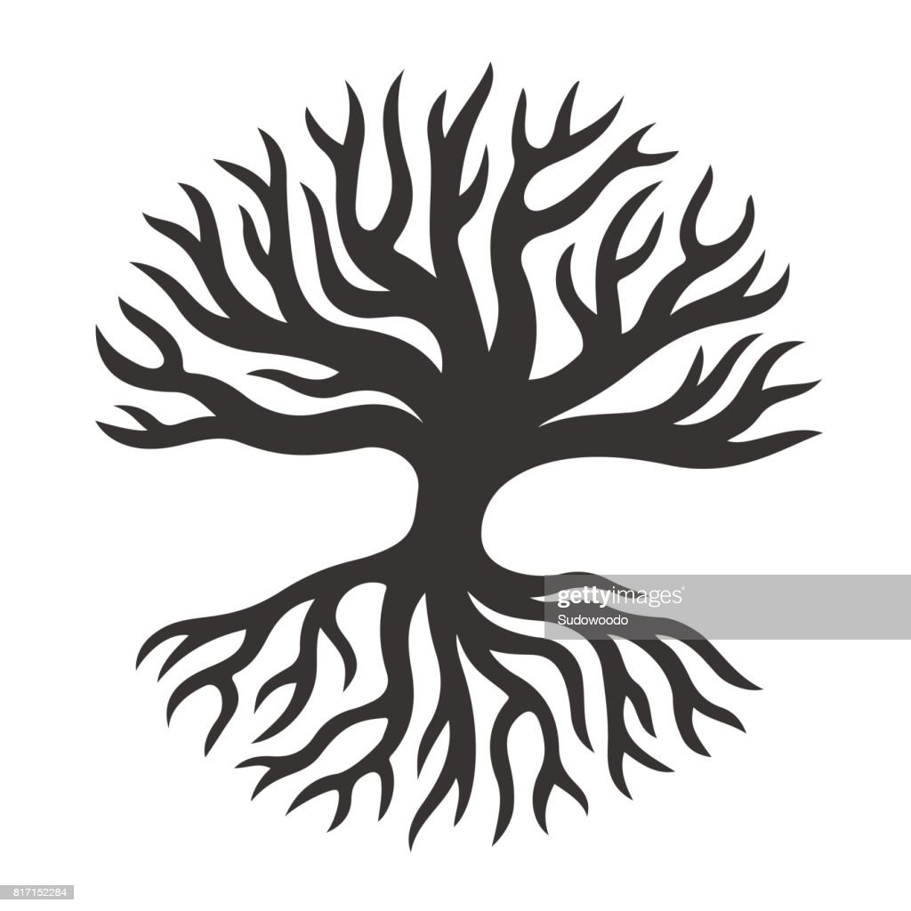 Abstract tree with roots