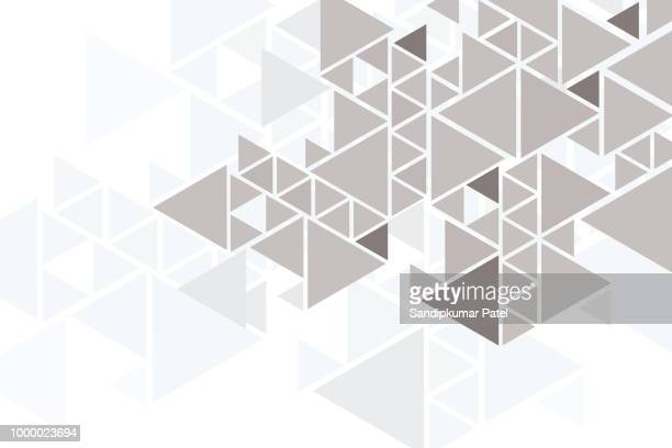 abstract triangle bg - triangle shape stock illustrations