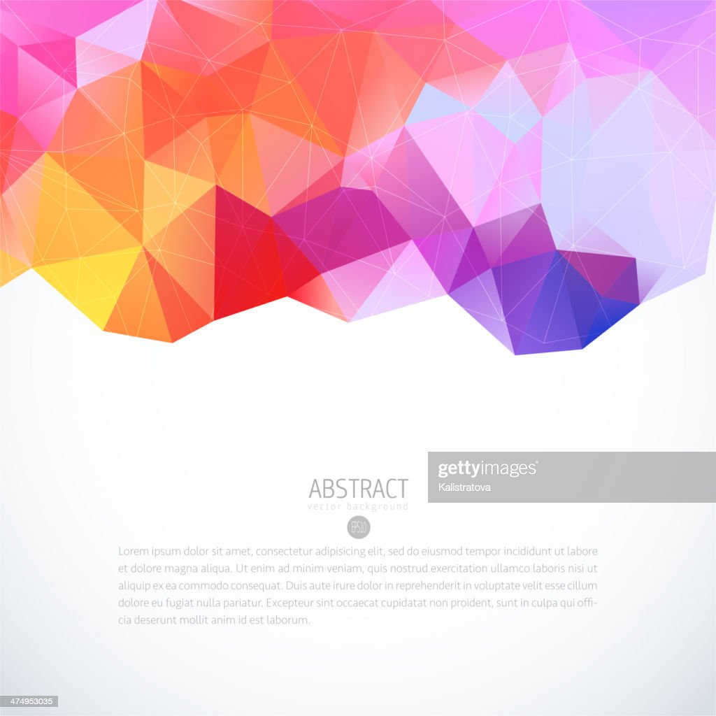 Abstract triangle colorful background
