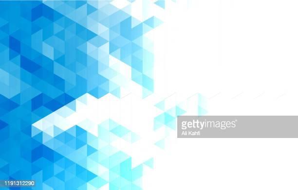 illustrazioni stock, clip art, cartoni animati e icone di tendenza di abstract triangle geometric background - modellazione low poly