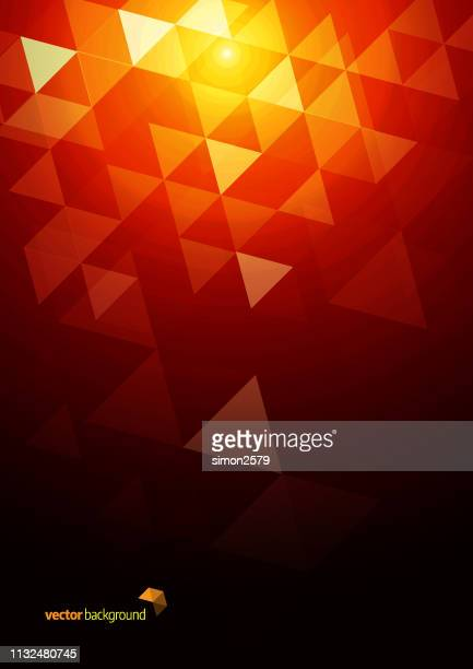 abstract triangle mosaic background - space exploration stock illustrations