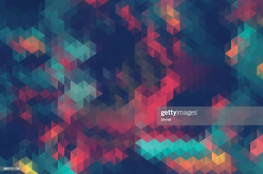 Abstract triangle retrocolor geometric background