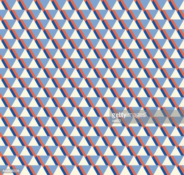 abstract triangle seamless background - graphic print stock illustrations