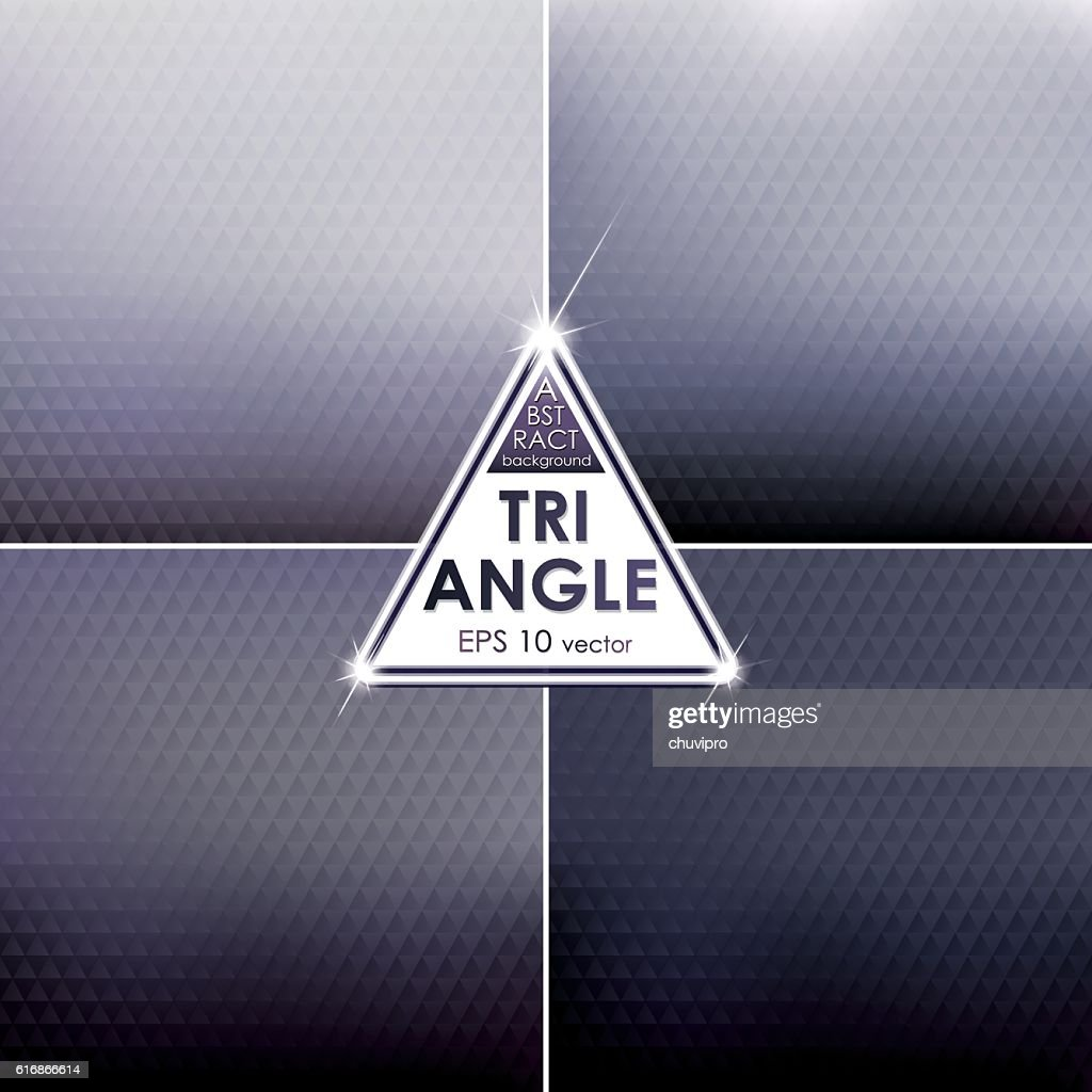 Abstract Triangle shaped backgrounds set  Hard-coal Palette : Vector Art