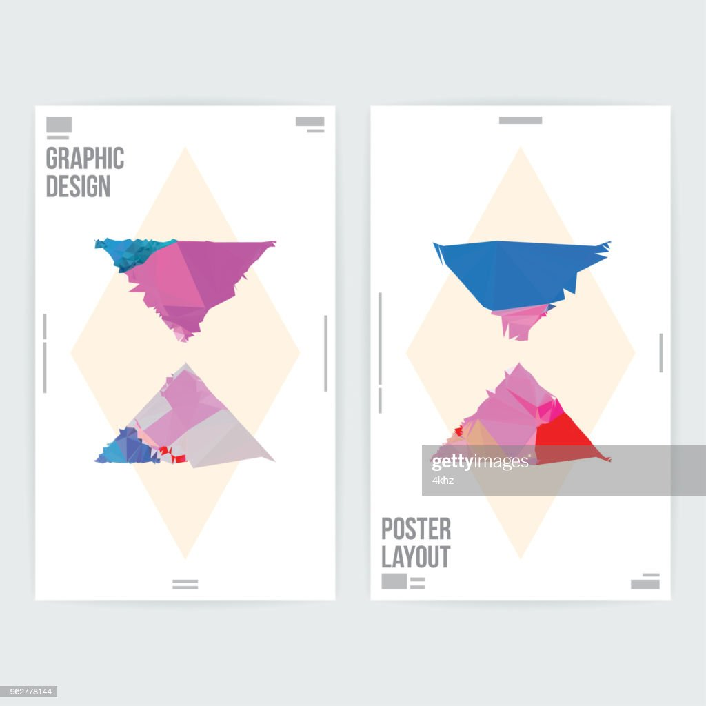 Abstract Triangle Shapes Graphic Design Poster Layout Template High Res Vector Graphic Getty Images,Abstract Geometric Line Design